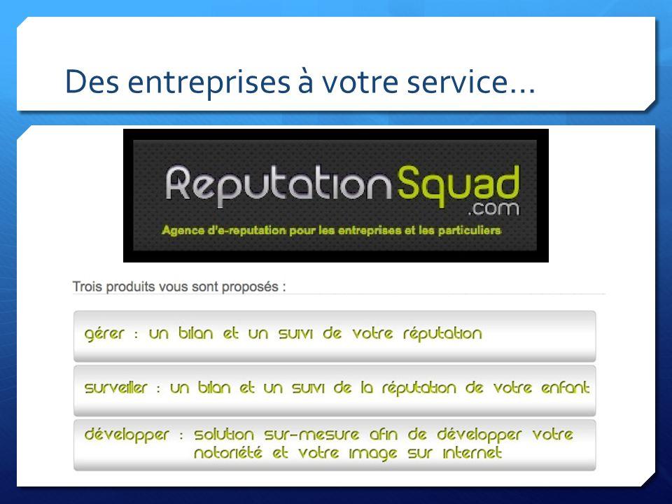 Des entreprises à votre service…