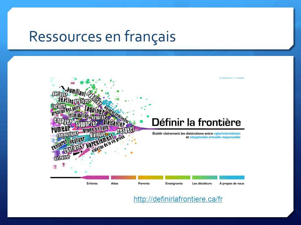 Ressources en français