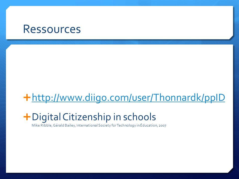 Ressources http://www.diigo.com/user/Thonnardk/ppID
