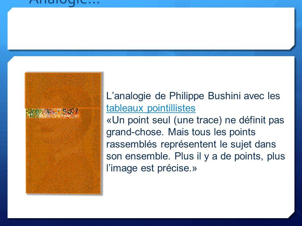 Analogie… L'analogie de Philippe Bushini avec les tableaux pointillistes.