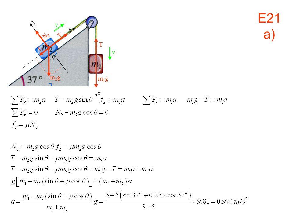 v x m1g y N2 T f2 37o m2g E21 a)