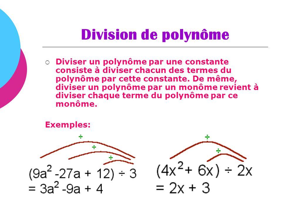 Division de polynôme
