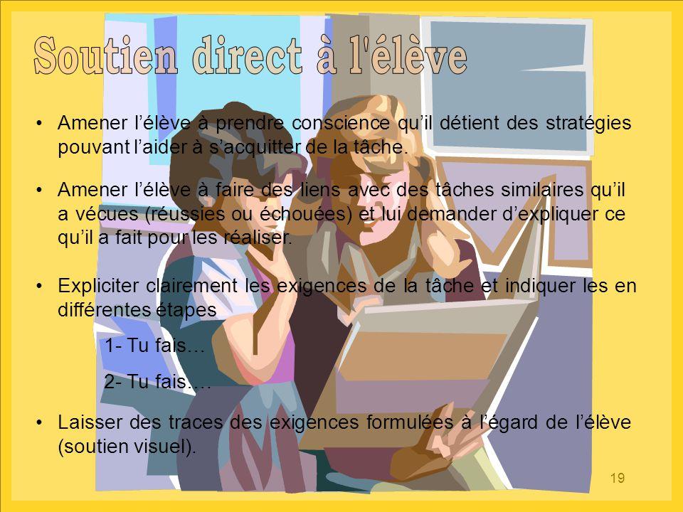 Soutien direct à l élève
