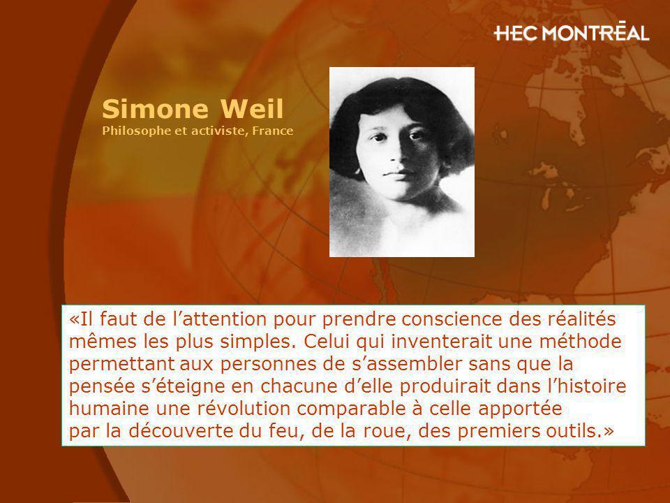 Simone Weil Philosophe et activiste, France.