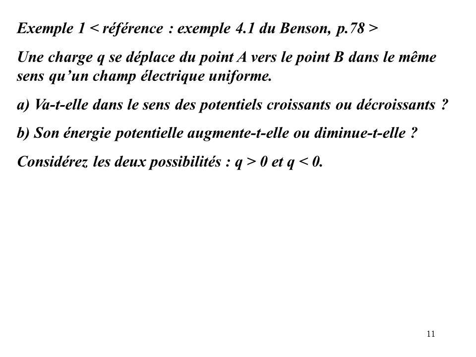Exemple 1 < référence : exemple 4.1 du Benson, p.78 >