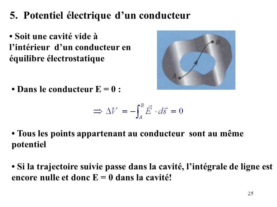 5. Potentiel électrique d'un conducteur