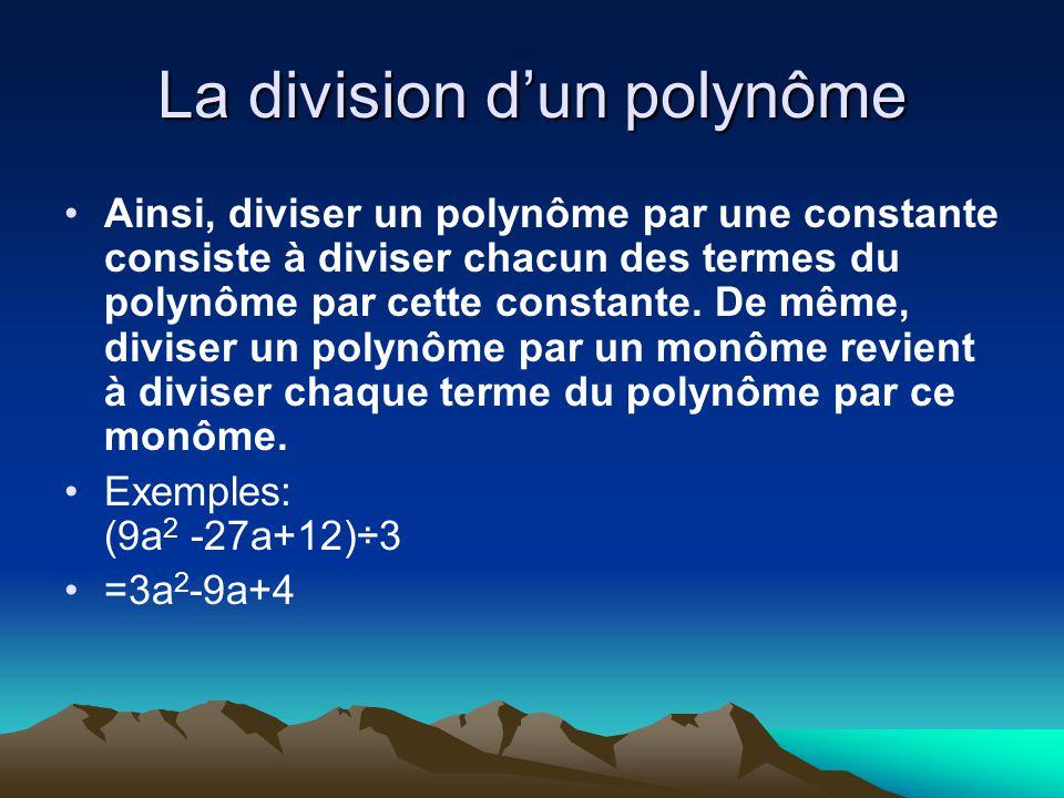 La division d'un polynôme