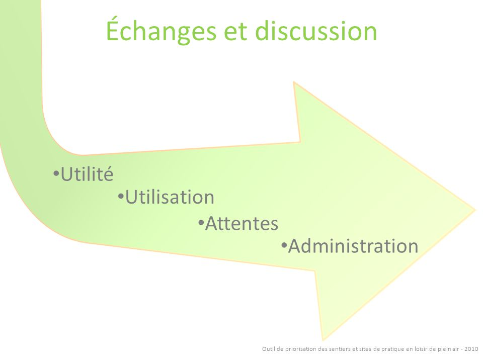 Échanges et discussion