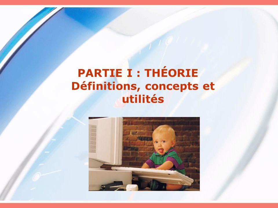 PARTIE I : THÉORIE Définitions, concepts et utilités