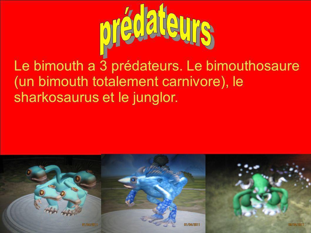 prédateurs Le bimouth a 3 prédateurs.