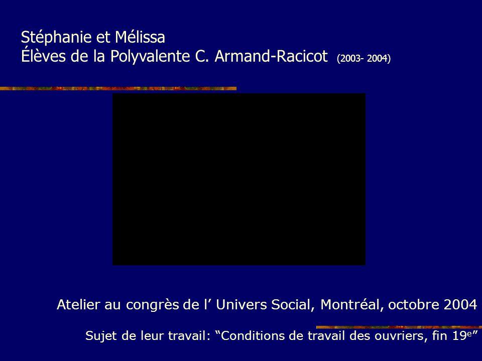 Élèves de la Polyvalente C. Armand-Racicot (2003- 2004)