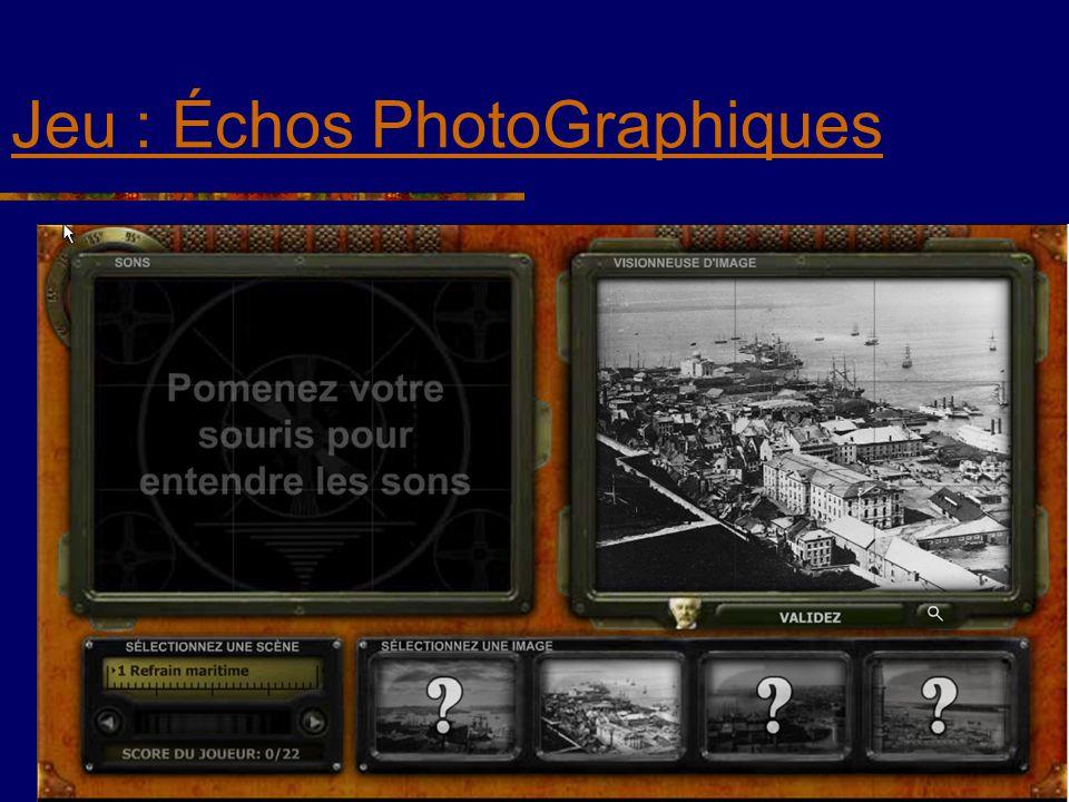 Jeu : Échos PhotoGraphiques