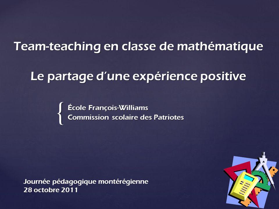 École François-Williams Commission scolaire des Patriotes