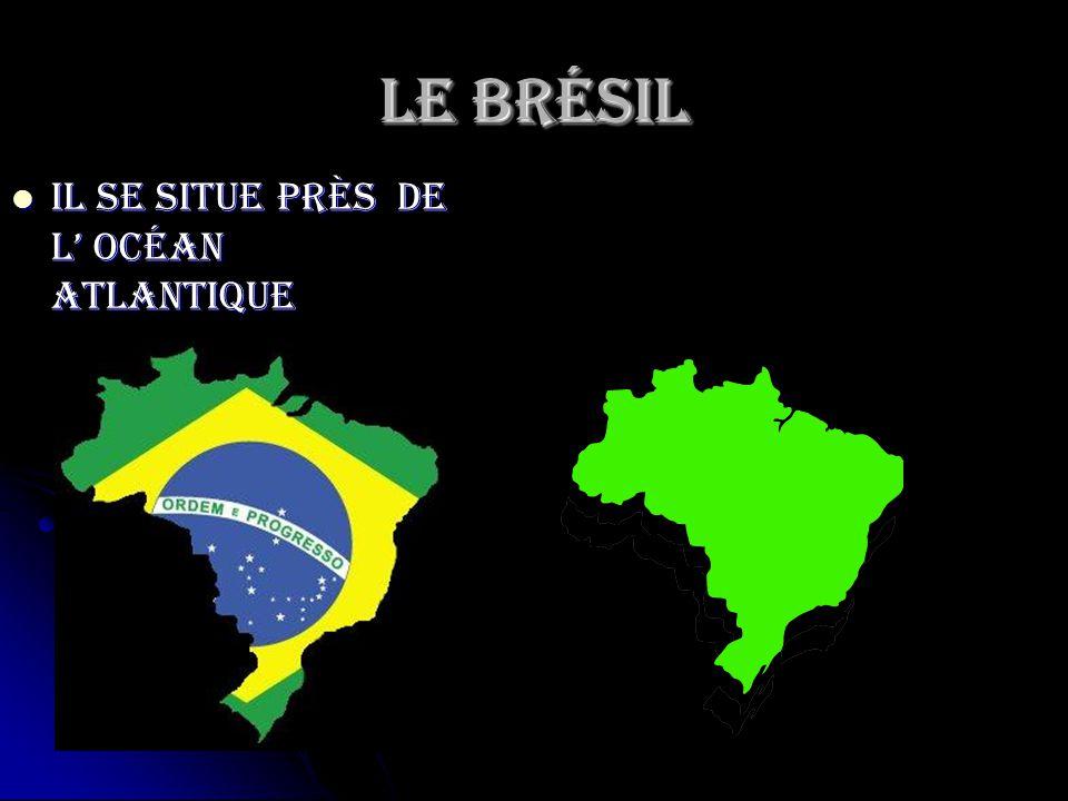 Le Brésil Il se situe près de l' Océan Atlantique