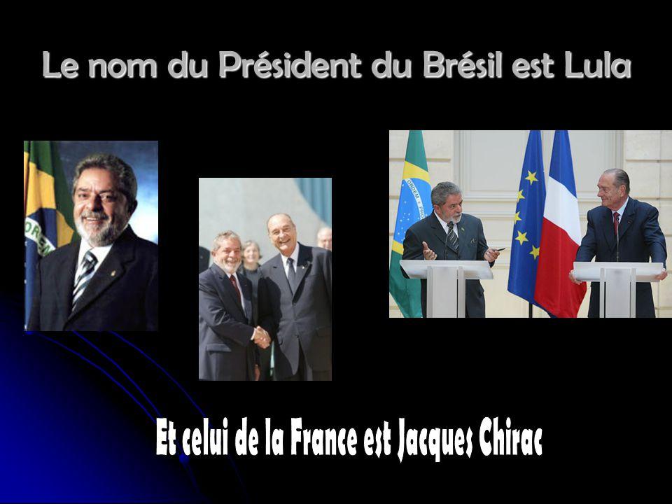 Le nom du Président du Brésil est Lula