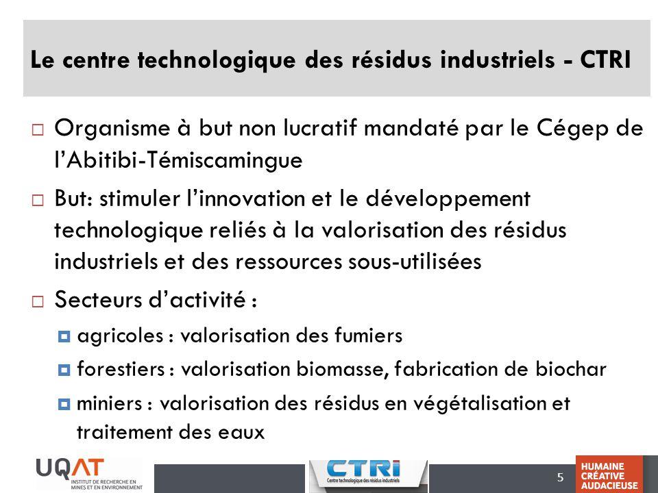 Le centre technologique des résidus industriels - CTRI
