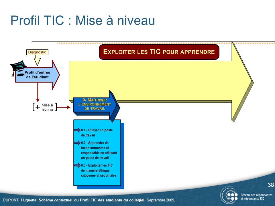 Profil TIC : Mise à niveau