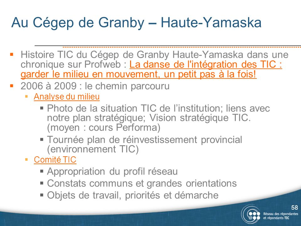Au Cégep de Granby – Haute-Yamaska