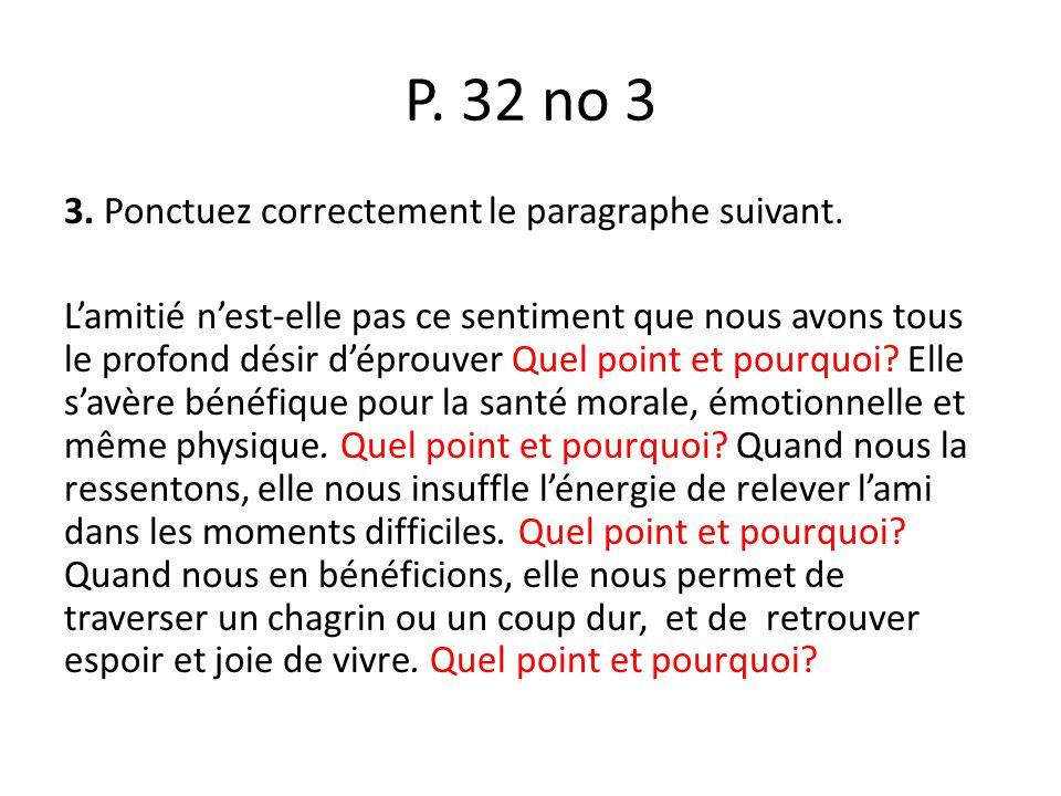 P. 32 no 3