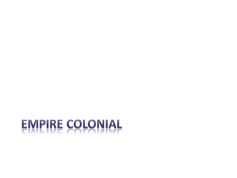 Empire colonial