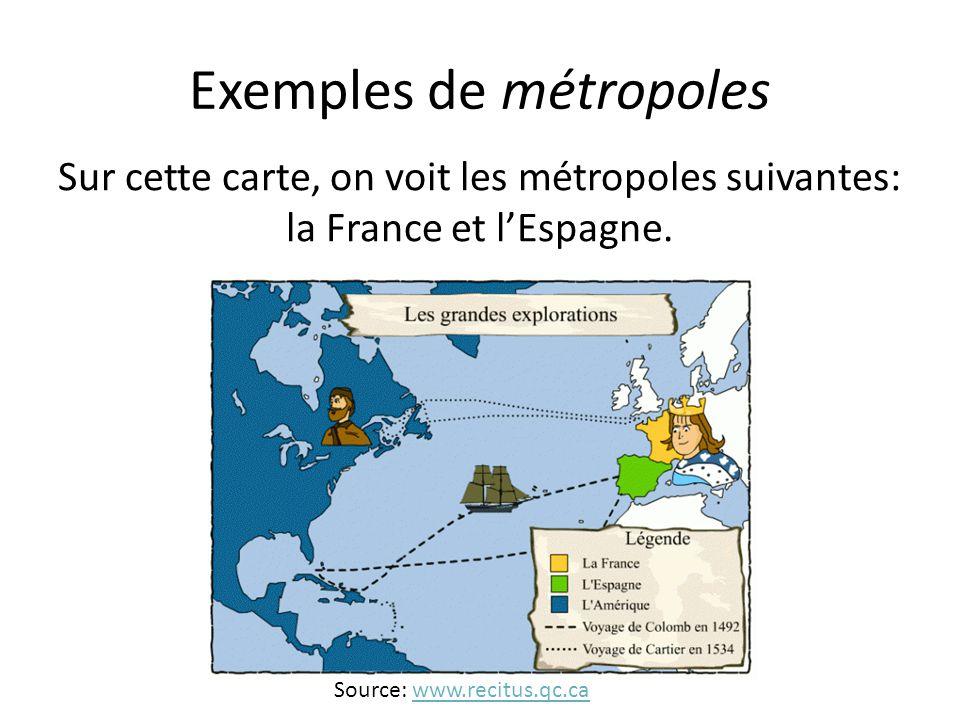Exemples de métropoles
