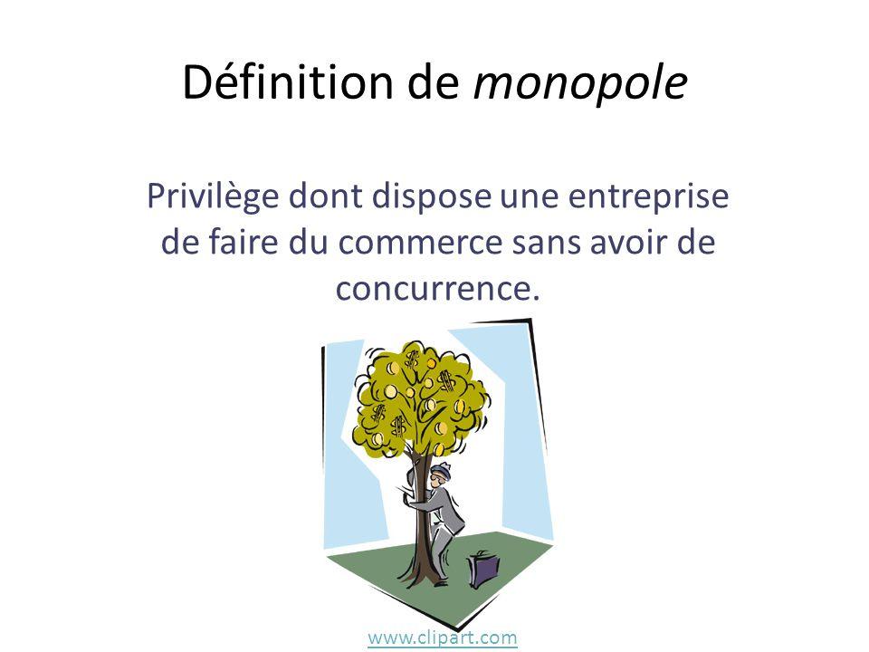 Définition de monopole