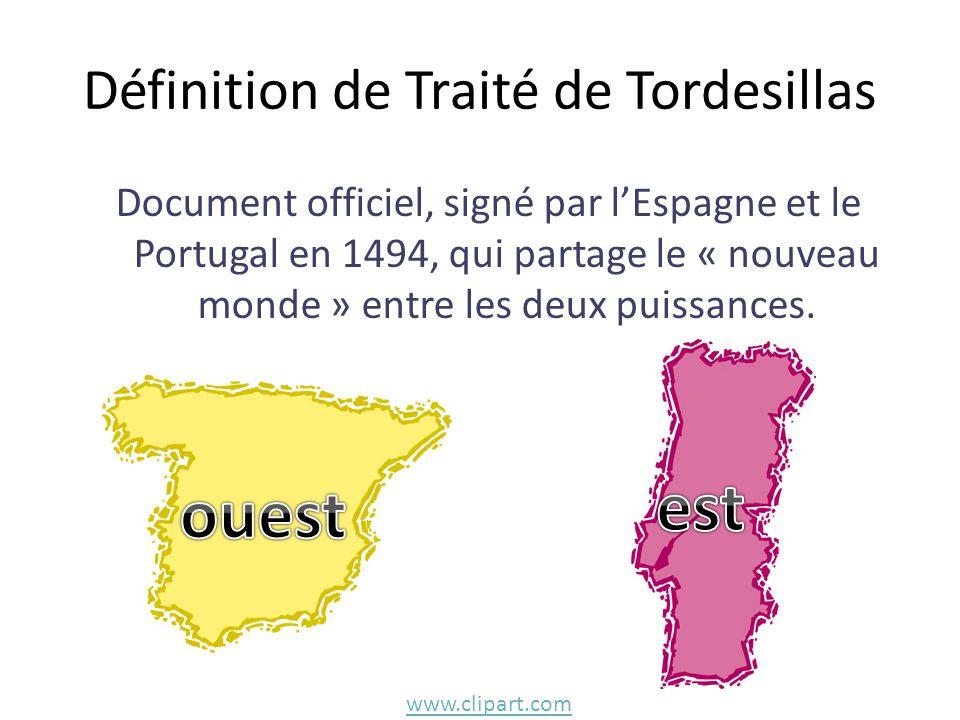 Définition de Traité de Tordesillas