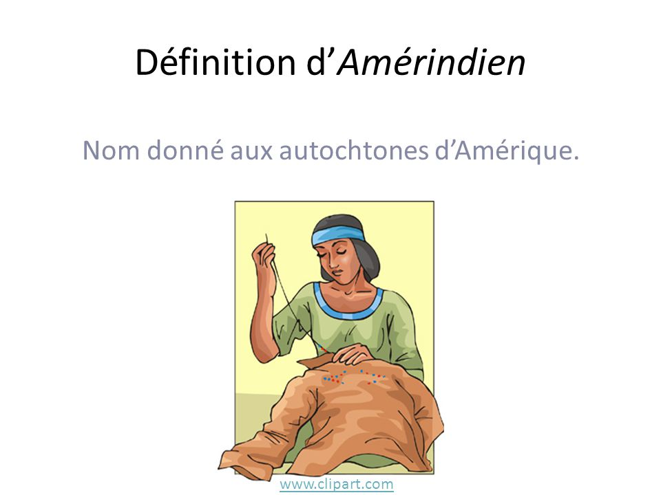 Définition d'Amérindien