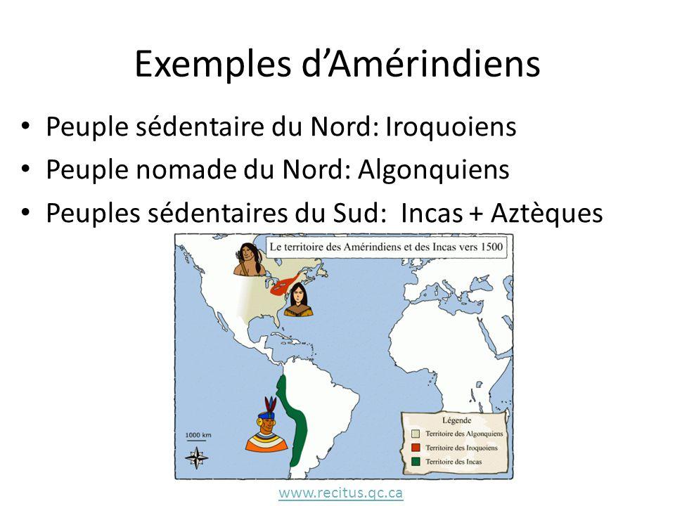 Exemples d'Amérindiens