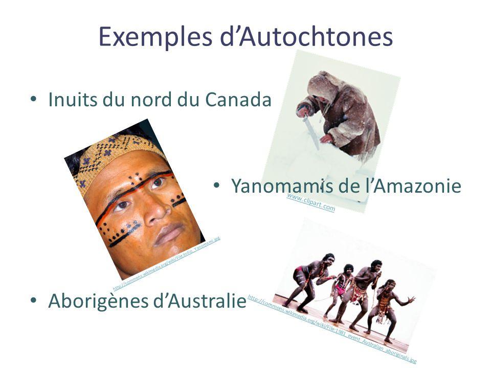 Exemples d'Autochtones
