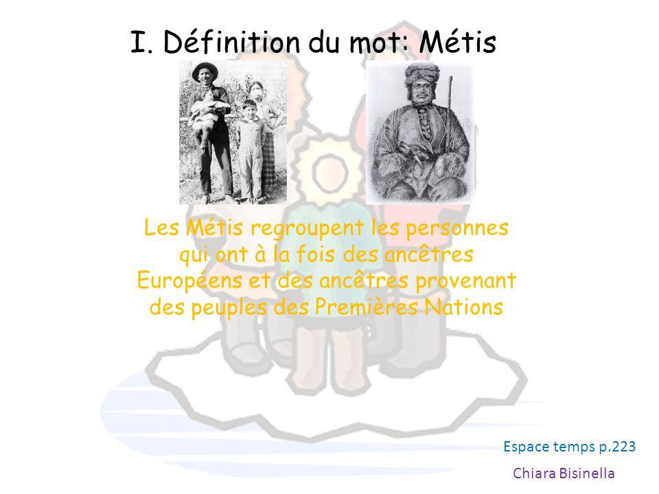 I. Définition du mot: Métis