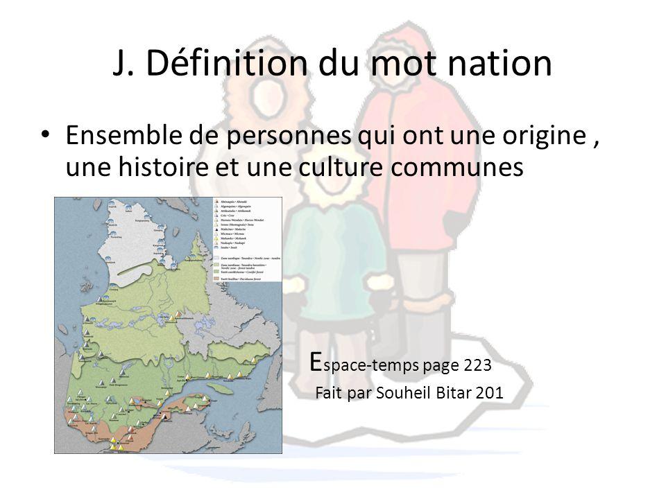 J. Définition du mot nation