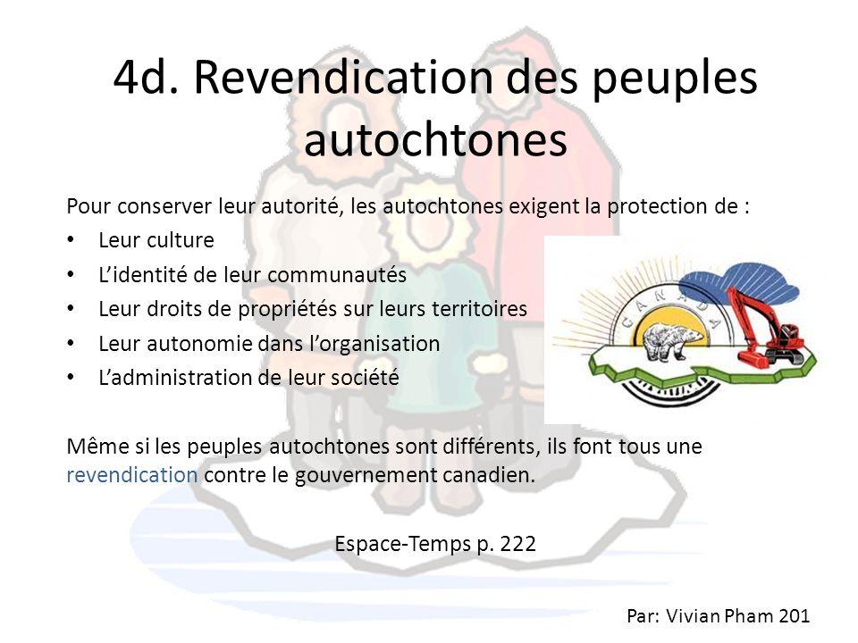4d. Revendication des peuples autochtones
