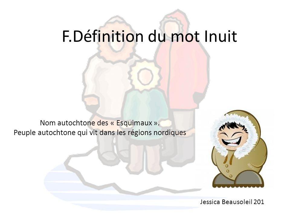 F.Définition du mot Inuit