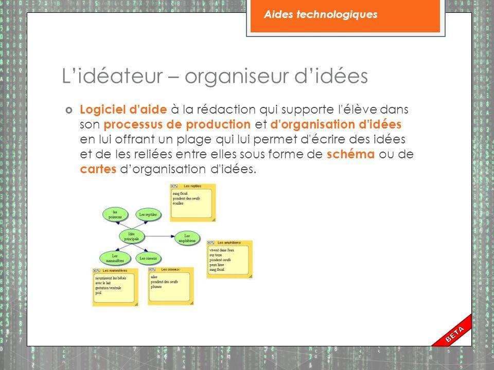 L'idéateur – organiseur d'idées