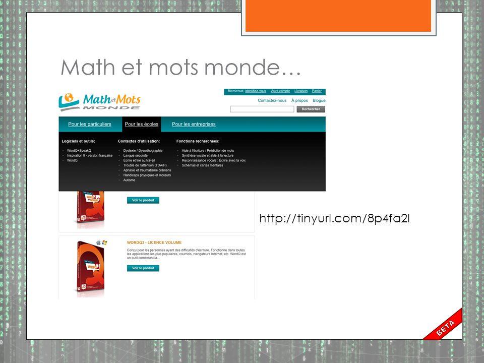 Math et mots monde… http://tinyurl.com/8p4fa2l