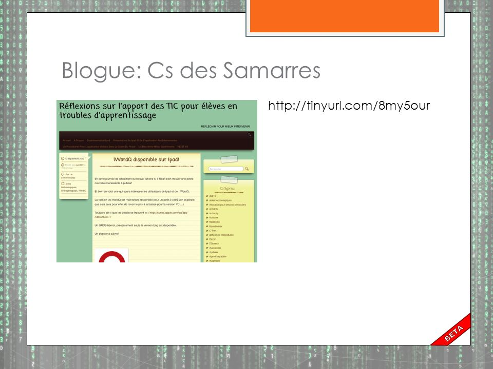 Blogue: Cs des Samarres