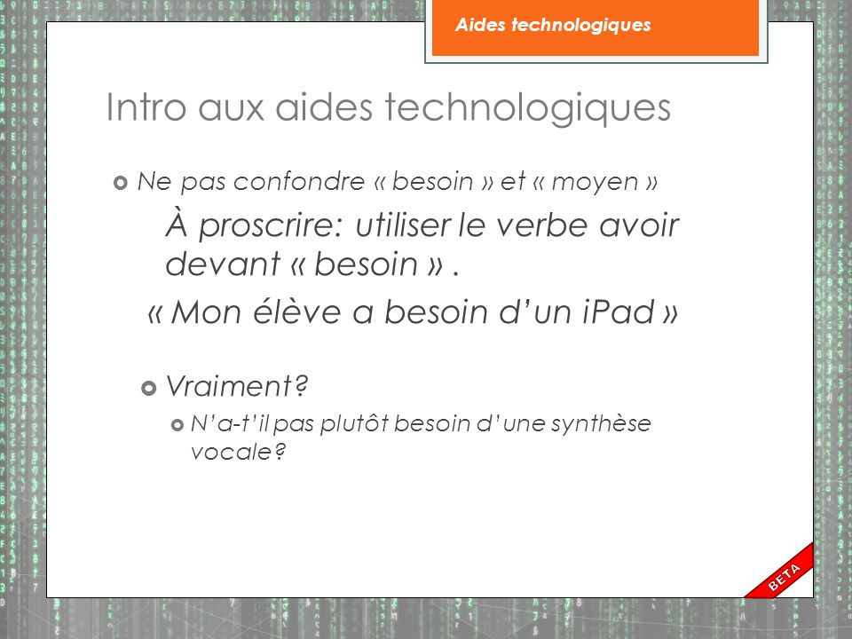 Intro aux aides technologiques