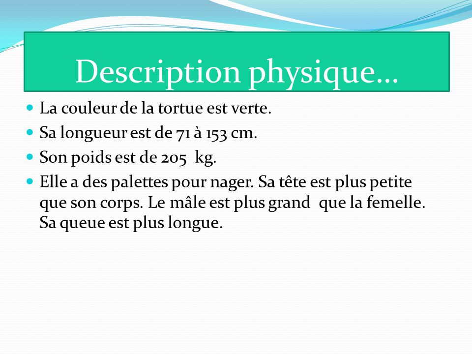 Description physique…