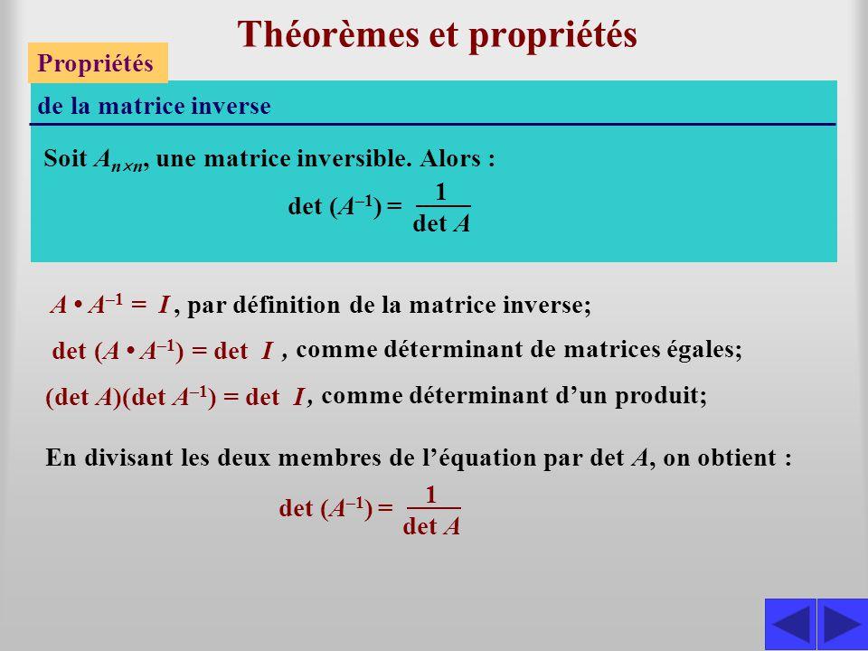 Théorèmes et propriétés