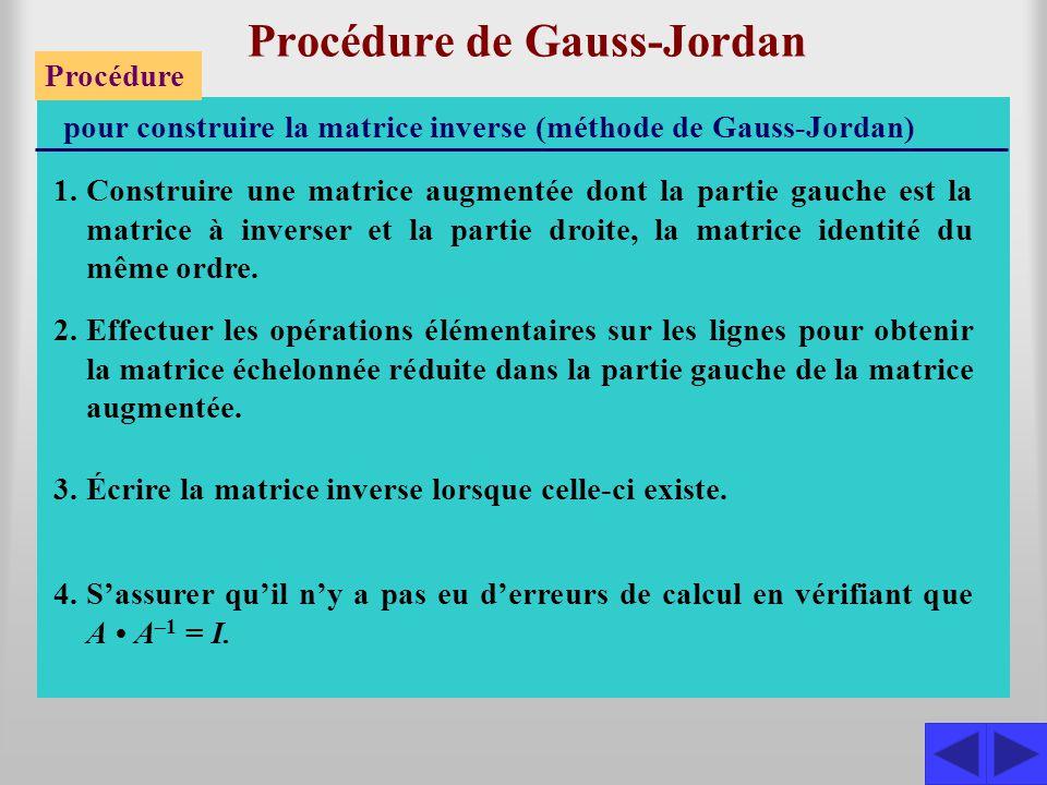 Procédure de Gauss-Jordan