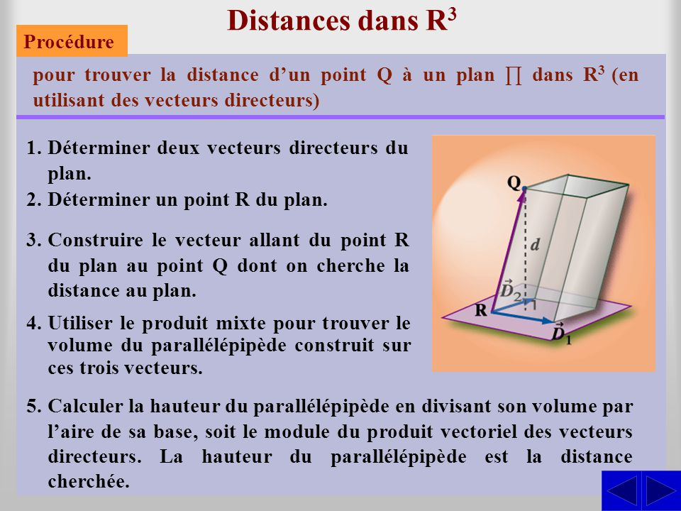 Le plan dans r3 intersections angles et distances ppt for Calculer son volume de demenagement