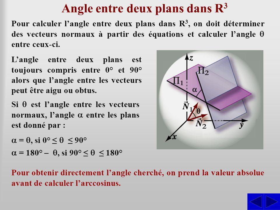 Angle entre deux plans dans R3
