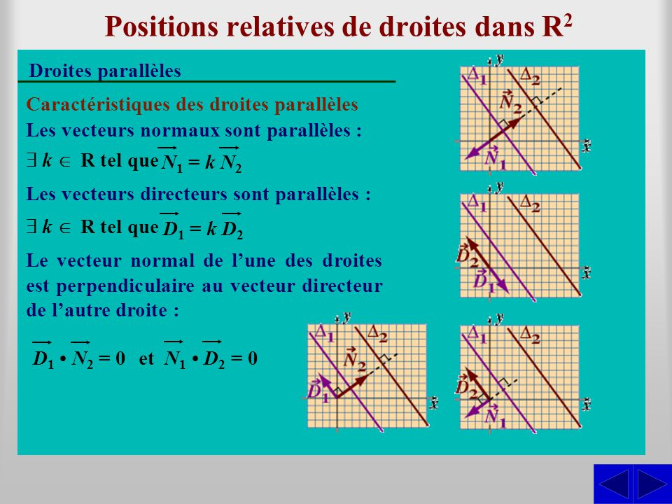 Positions relatives de droites dans R2
