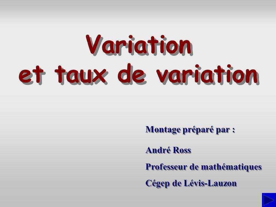Variation et taux de variation