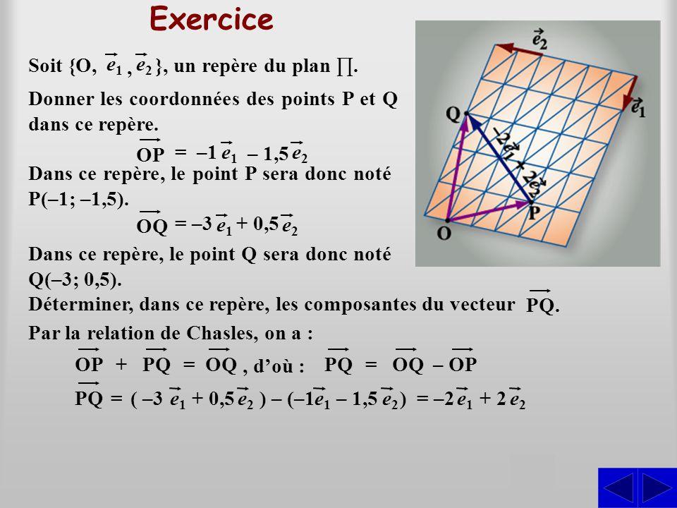 Exercice S S S S }, un repère du plan ∏. Soit {O, e1 e2 ,