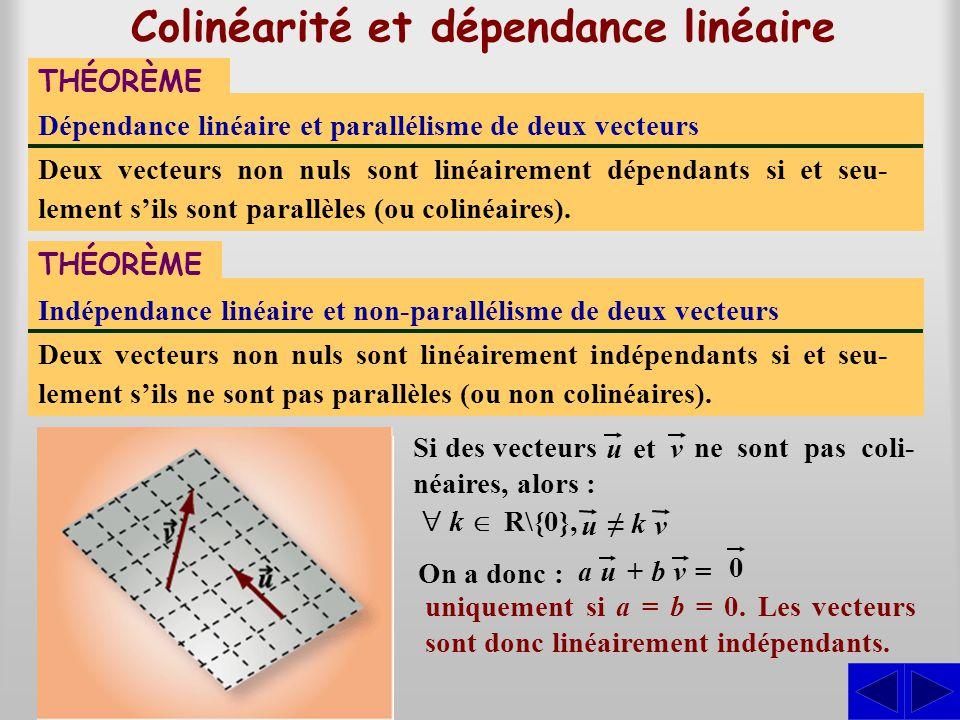 Colinéarité et dépendance linéaire