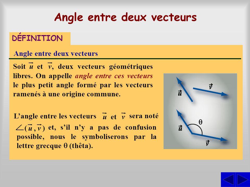 Angle entre deux vecteurs