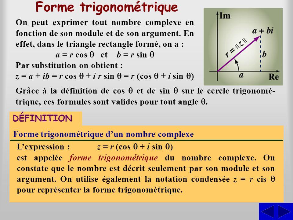 Forme trigonométrique