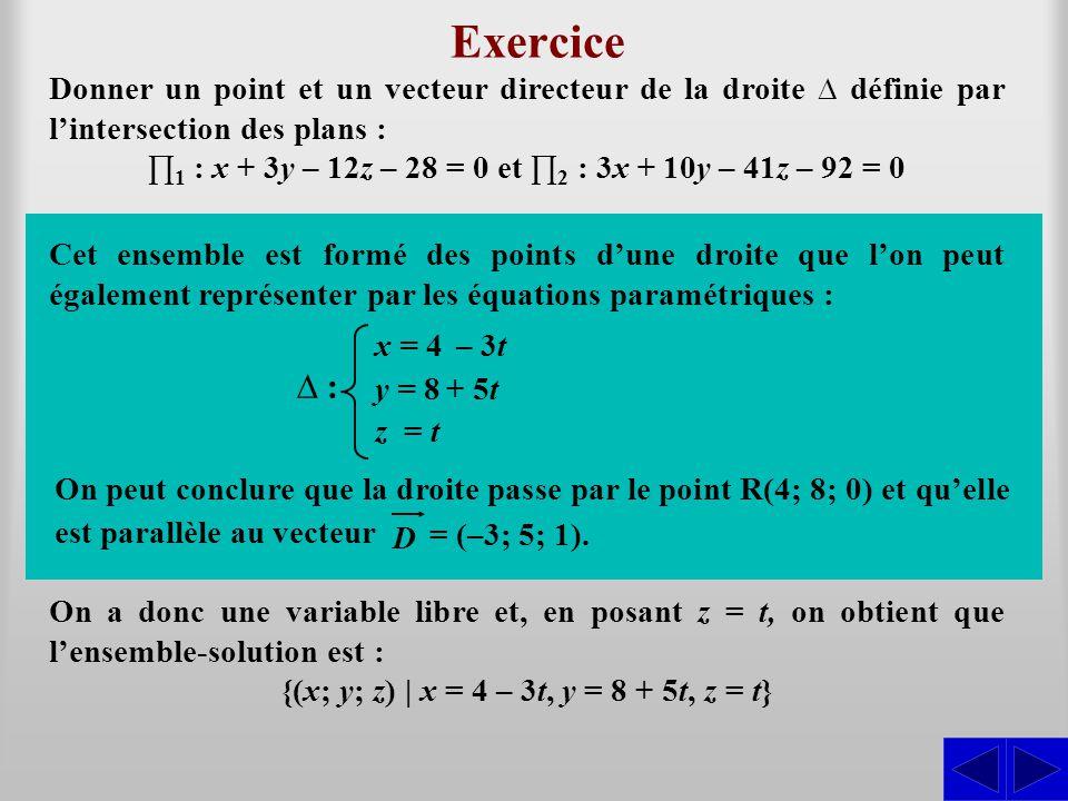 Exercice L1 ≈ ∆ : L2 – 3L1 S S L1 – 3L2 ≈ L2